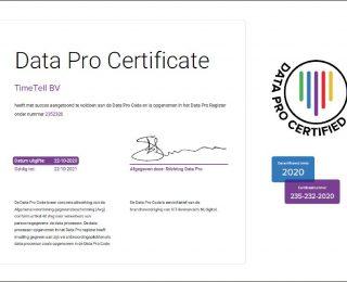 Yes! Wederom Data Pro gecertificeerd!
